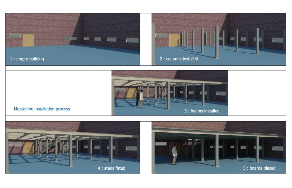 Mezzanine renderings